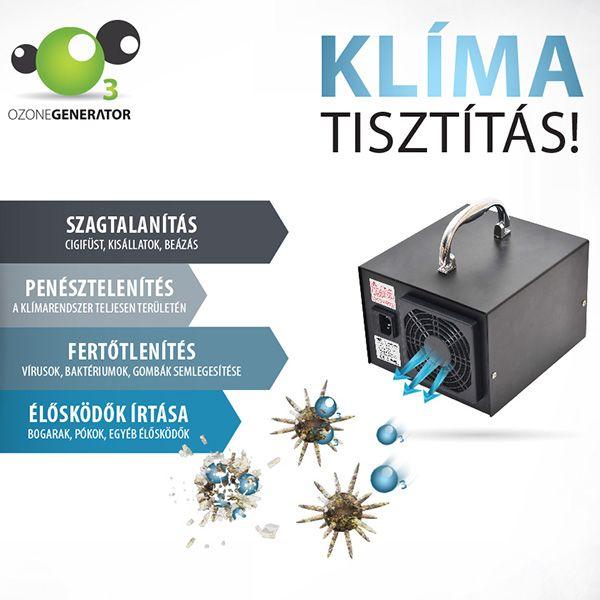 HE-150 ózongenerátor lég- és klímatisztító