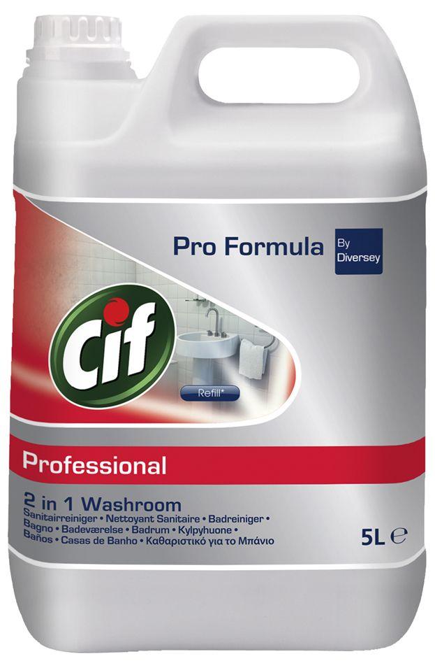 Cif Prof. Washroom 2 in 1 szaniter tisztítószer, vízkőoldó 5 liter